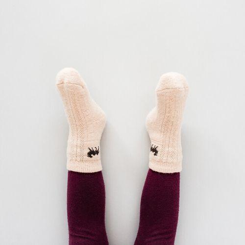 Dětské vlněné ponožky béžový velbloud