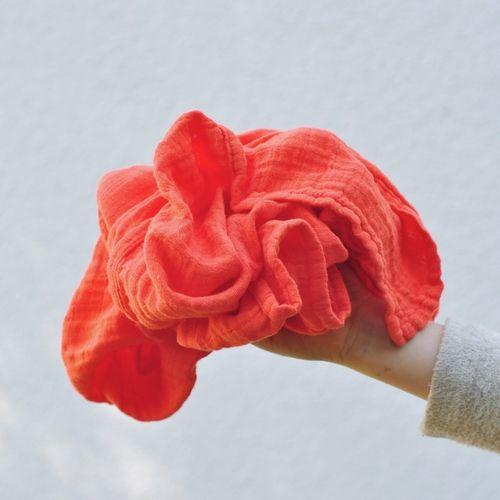 Mušelínový šátek oranžový Spicy orange