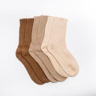 Vlněné ponožky Béžový velbloud