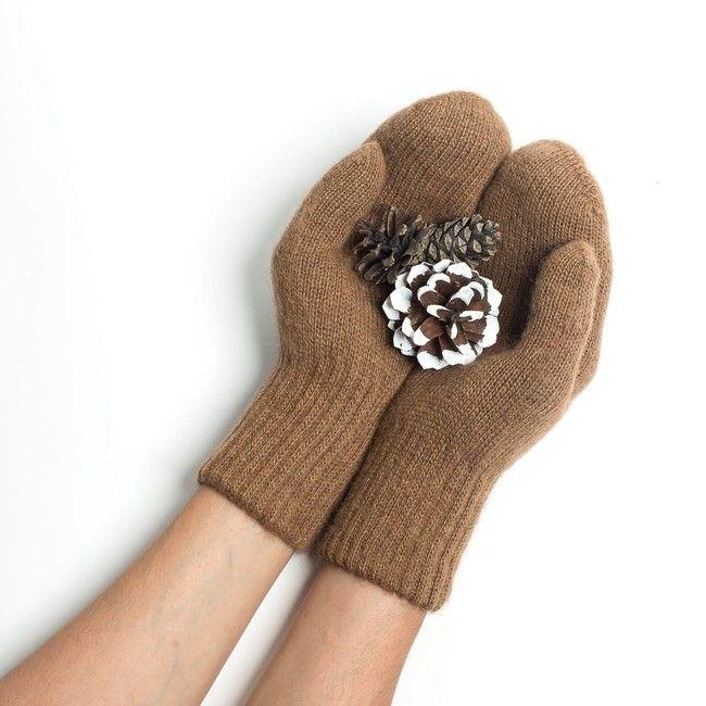 Dospělácké rukavice Hnědý velbloud