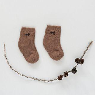 Dětské vlněné ponožky Hnědý velbloud