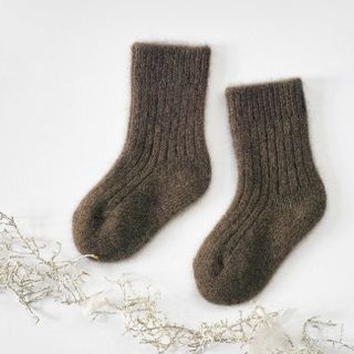 Dětské vlněné ponožky Hnědý jak