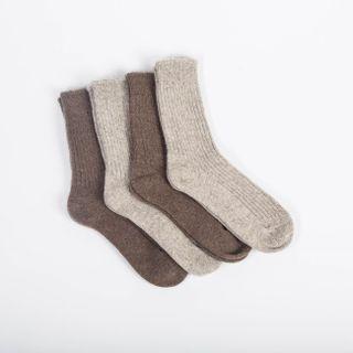 Vlněné ponožky Hnědý jak