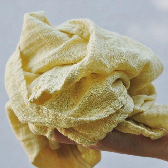 Mušelínový šátek světle žlutý Sun dress