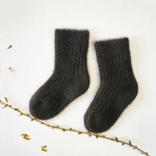 Dětské vlněné ponožky Tmavě hnědý jak